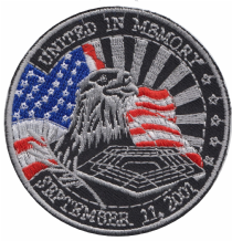 9/11 United in Memory September 11th 2001 Embroidered Badge (a412)